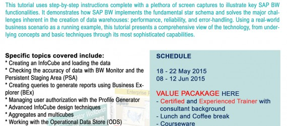SAP Business Warehouse (BW) Workshop – ETL to Reporting